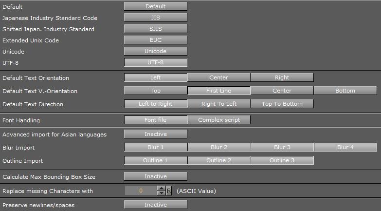 Font/Text Options - Viz Artist and Engine