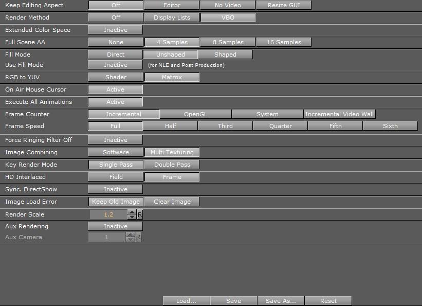 Render Options Viz Artist And Engine