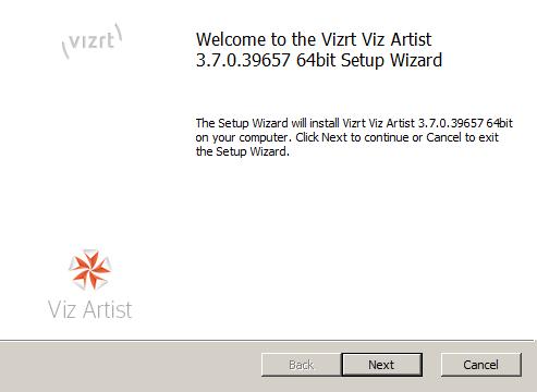 Install Viz Artist/Engine - Viz Engine Administrator's Guide - Vizrt