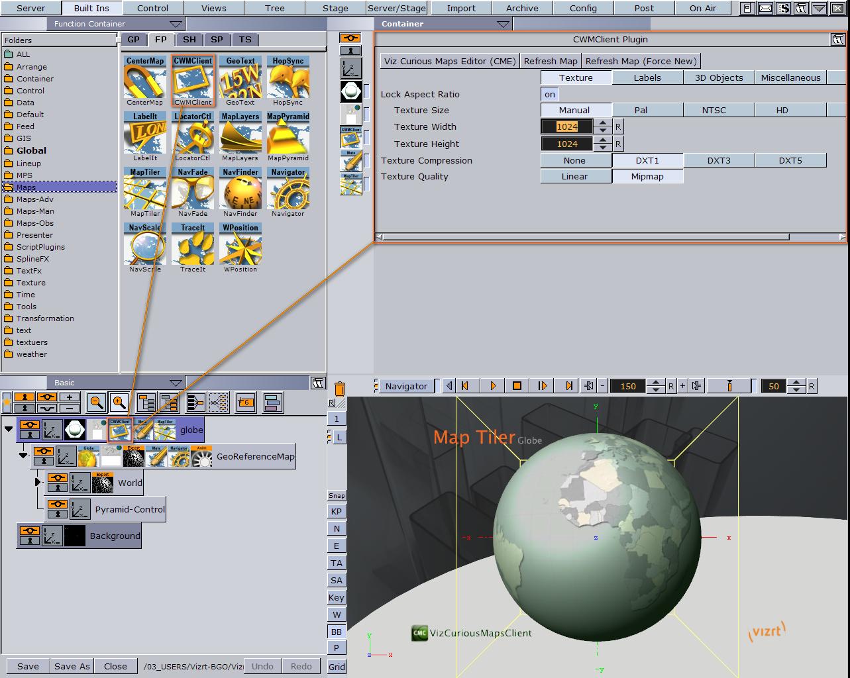 Using the Map Editor - Viz World User's Guide - Vizrt Documentation